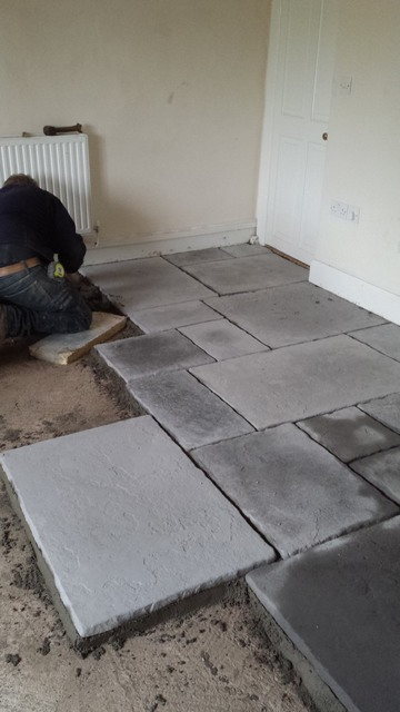 flagstone laying work